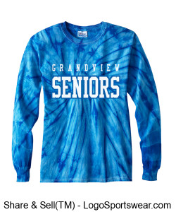 100% Cotton Long-Sleeve Tie-dyed T-shirt Design Zoom