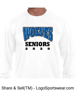 Adult Long Sleeve Moisture Wicking T-shirt Design Zoom